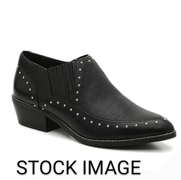 Crown Vintage genuine leather studded booti